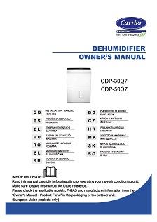 Carrier CDP párátlanító használati útmutató